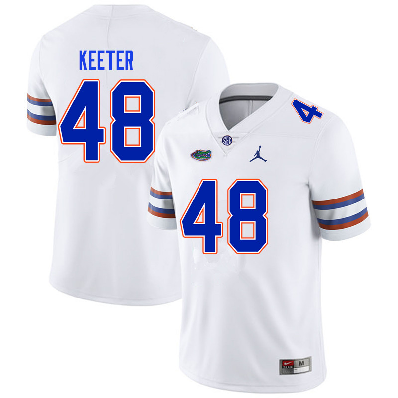 Men #48 Noah Keeter Florida Gators College Football Jerseys Sale-White