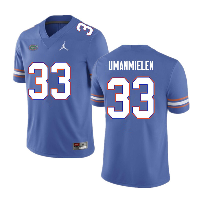 Men #33 Princely Umanmielen Florida Gators College Football Jerseys Sale-Blue