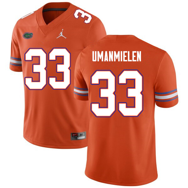 Men #33 Princely Umanmielen Florida Gators College Football Jerseys Sale-Orange