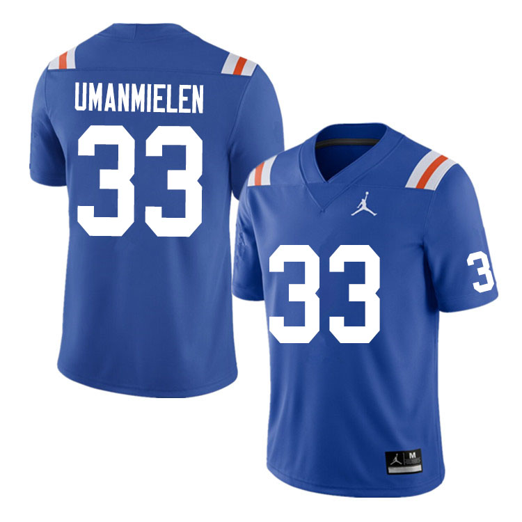 Men #33 Princely Umanmielen Florida Gators College Football Jerseys Sale-Throwback