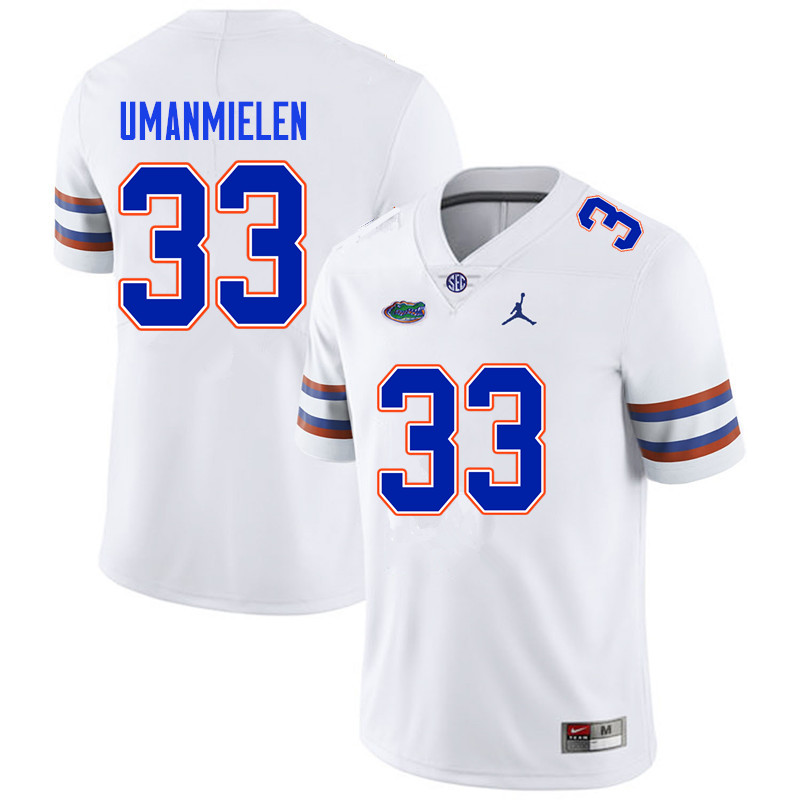 Men #33 Princely Umanmielen Florida Gators College Football Jerseys Sale-White
