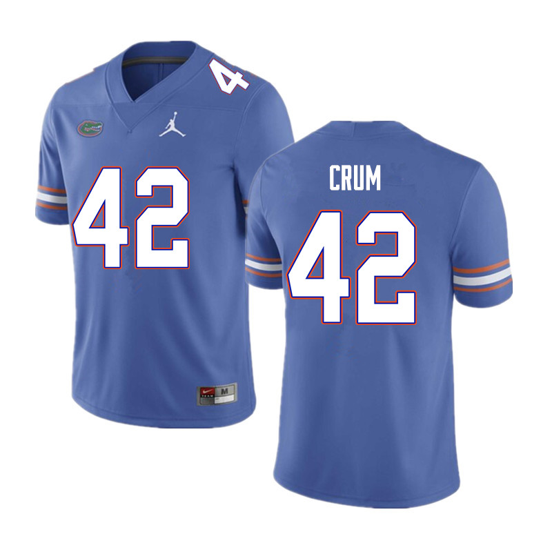 Men #42 Quaylin Crum Florida Gators College Football Jerseys Sale-Blue