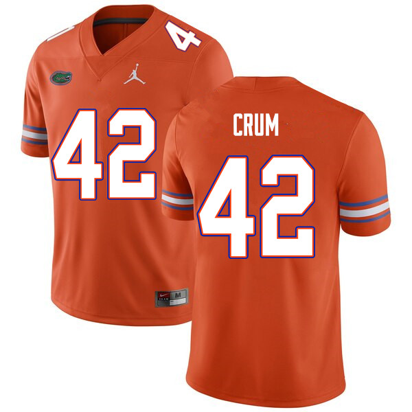 Men #42 Quaylin Crum Florida Gators College Football Jerseys Sale-Orange