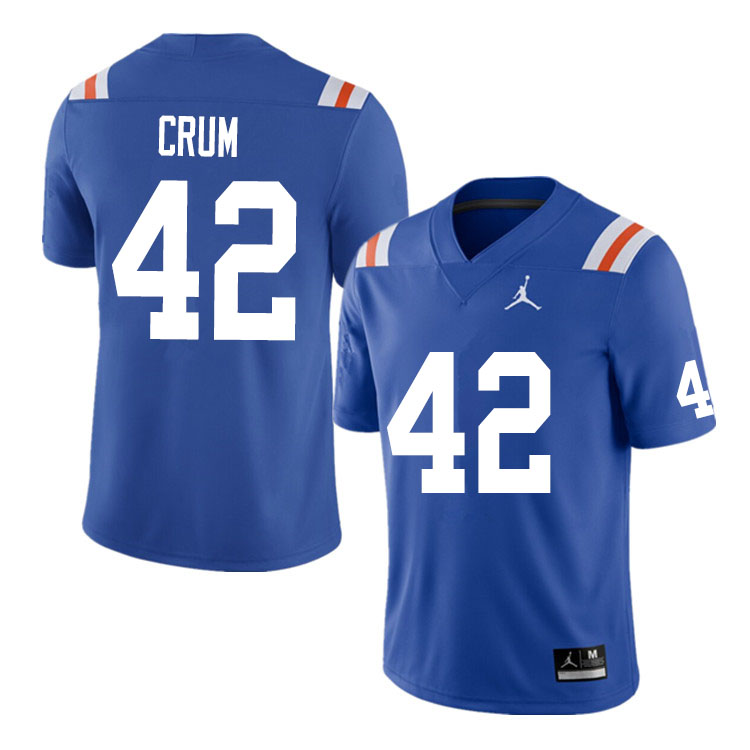 Men #42 Quaylin Crum Florida Gators College Football Jerseys Sale-Throwback