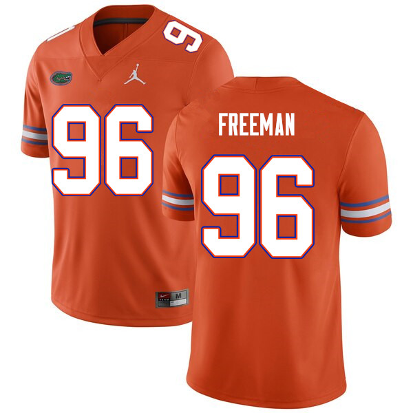 Men #96 Travis Freeman Florida Gators College Football Jerseys Sale-Orange