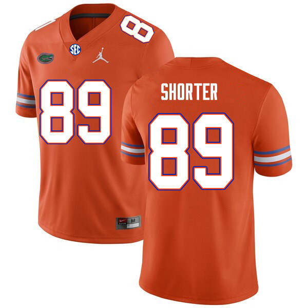 Men #89 Justin Shorter Florida Gators College Football Jerseys Sale-Orange