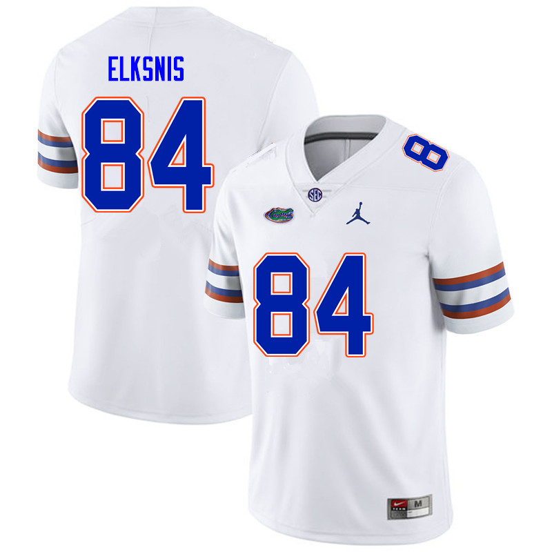 Men #84 Nick Elksnis Florida Gators College Football Jerseys Sale-White