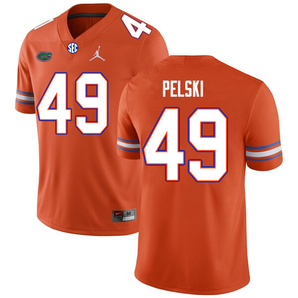 Men #49 Preston Pelski Florida Gators College Football Jerseys Sale-Orange