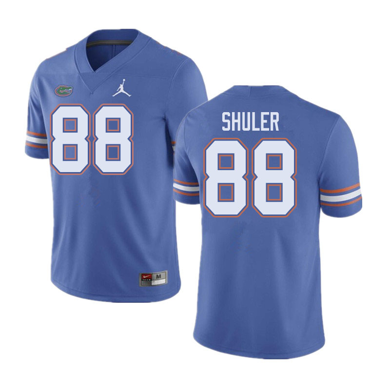 Jordan Brand Men #88 Adam Shuler Florida Gators College Football Jerseys Sale-Blue