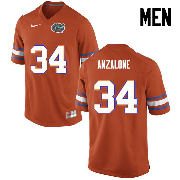 Men Florida Gators #34 Alex Anzalone College Football Jerseys-Orange