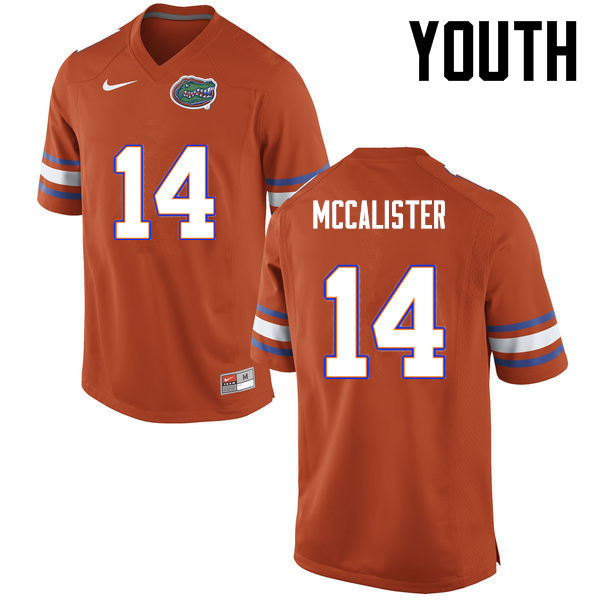Youth Florida Gators #14 Alex McCalister College Football Jerseys-Orange