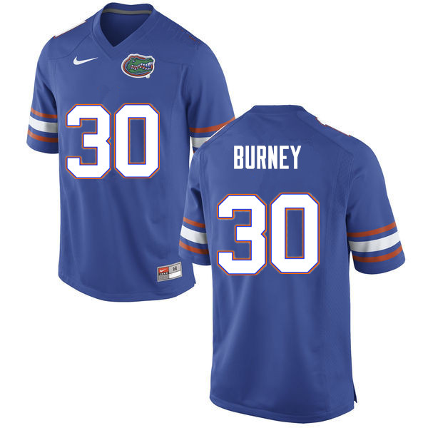 Men #30 Amari Burney Florida Gators College Football Jerseys Sale-Blue