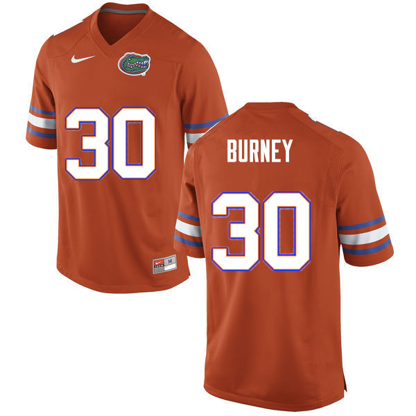 Men #30 Amari Burney Florida Gators College Football Jerseys Sale-Orange