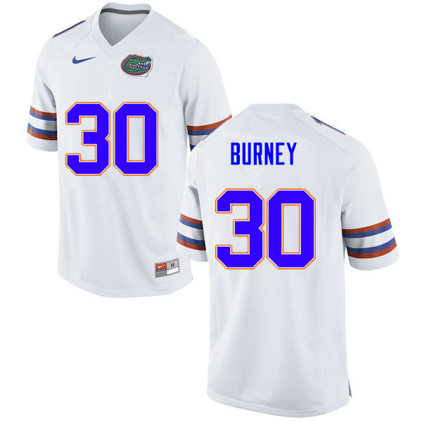 Men #30 Amari Burney Florida Gators College Football Jerseys Sale-White