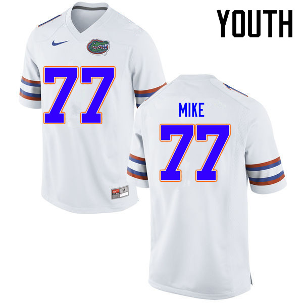Youth Florida Gators #77 Andrew Mike College Football Jerseys Sale-White