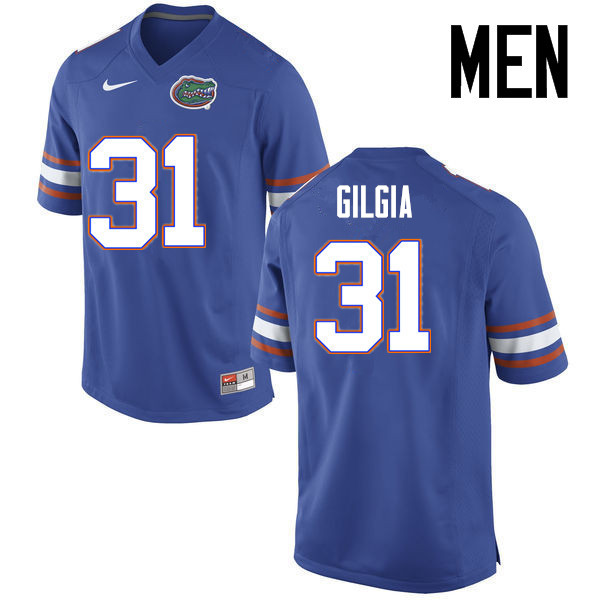 Men Florida Gators #31 Anthony Gigla College Football Jerseys Sale-Blue