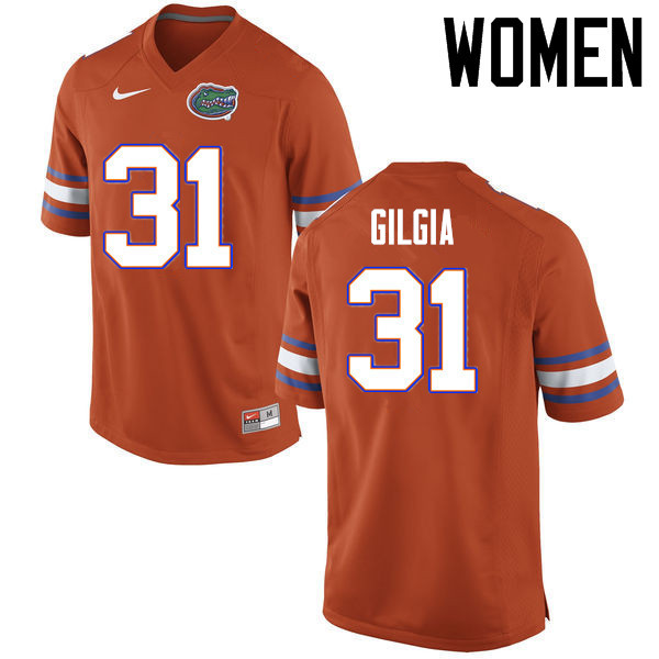 Women Florida Gators #31 Anthony Gigla College Football Jerseys Sale-Orange