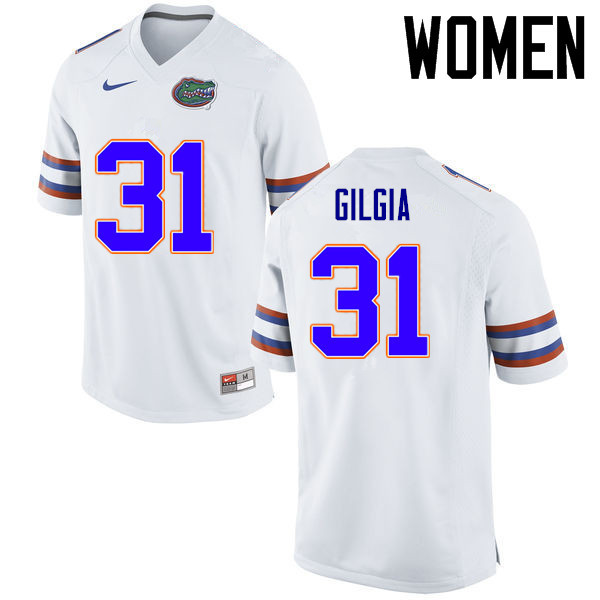 Women Florida Gators #31 Anthony Gigla College Football Jerseys Sale-White