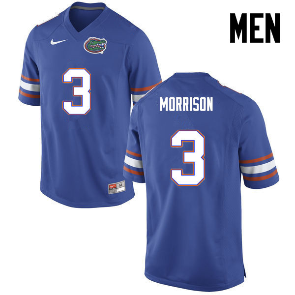 Men Florida Gators #3 Antonio Morrison College Football Jerseys-Blue