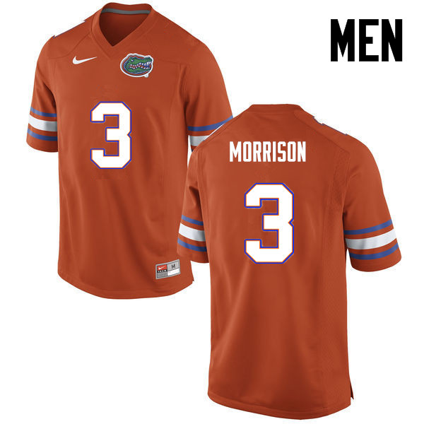 Men Florida Gators #3 Antonio Morrison College Football Jerseys-Orange