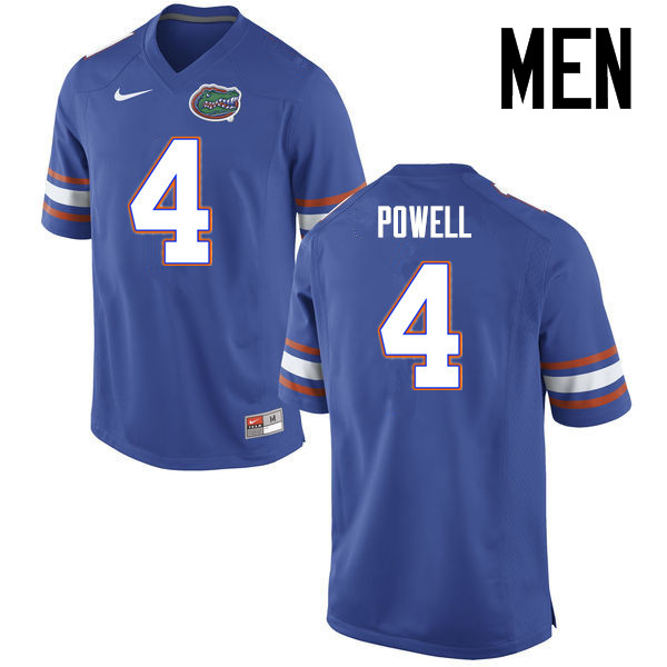 Men Florida Gators #4 Brandon Powell College Football Jerseys Sale-Blue