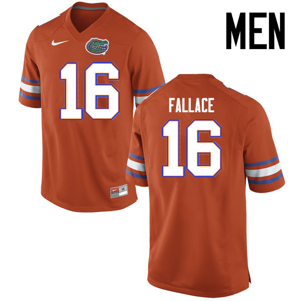 Men Florida Gators #16 Brian Fallace College Football Jerseys Sale-Orange