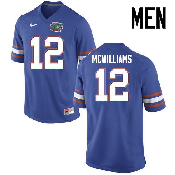 Men Florida Gators #12 C.J. McWilliams College Football Jerseys Sale-Blue