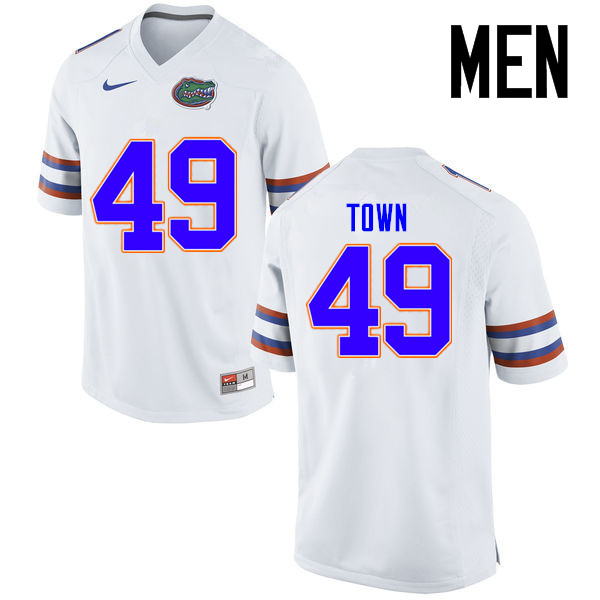Men Florida Gators #49 Cameron Town College Football Jerseys Sale-White