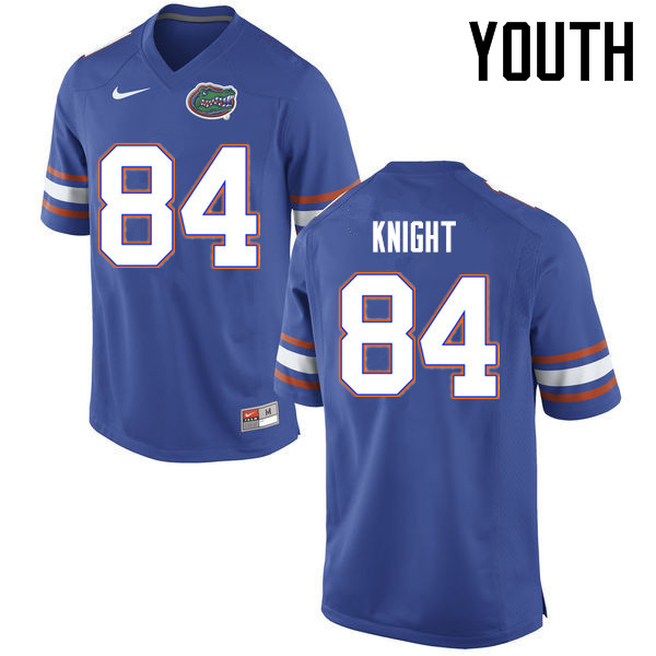 Youth Florida Gators #84 Camrin Knight College Football Jerseys Sale-Blue