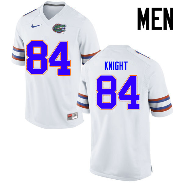 Men Florida Gators #84 Camrin Knight College Football Jerseys Sale-White
