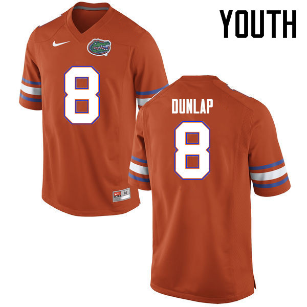 Youth Florida Gators #8 Carlos Dunlap College Football Jerseys Sale-Orange