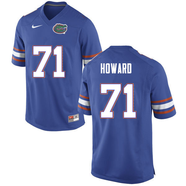 Men #71 Chris Howard Florida Gators College Football Jerseys Sale-Blue