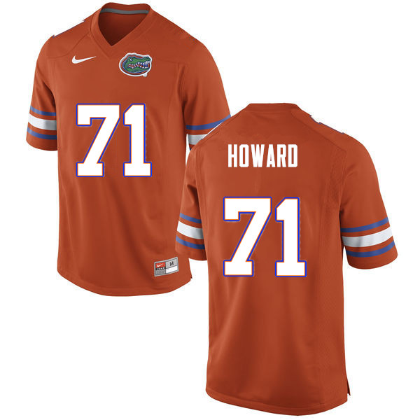 Men #71 Chris Howard Florida Gators College Football Jerseys Sale-Orange