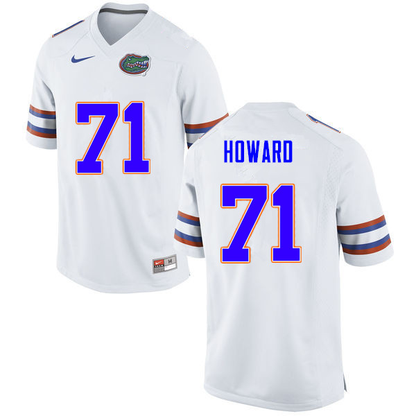 Men #71 Chris Howard Florida Gators College Football Jerseys Sale-White