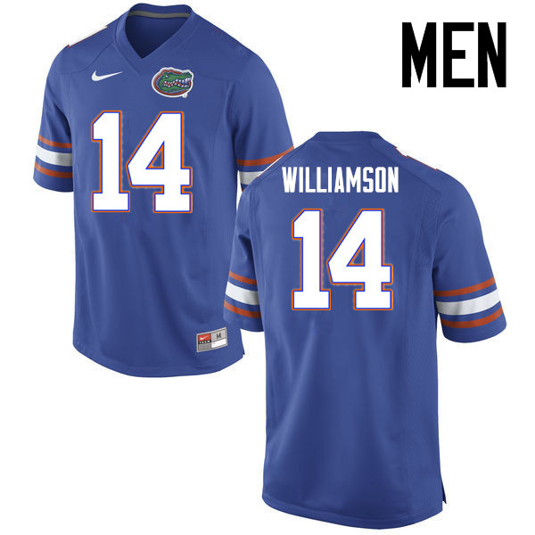 Men Florida Gators #14 Chris Williamson College Football Jerseys Sale-Blue