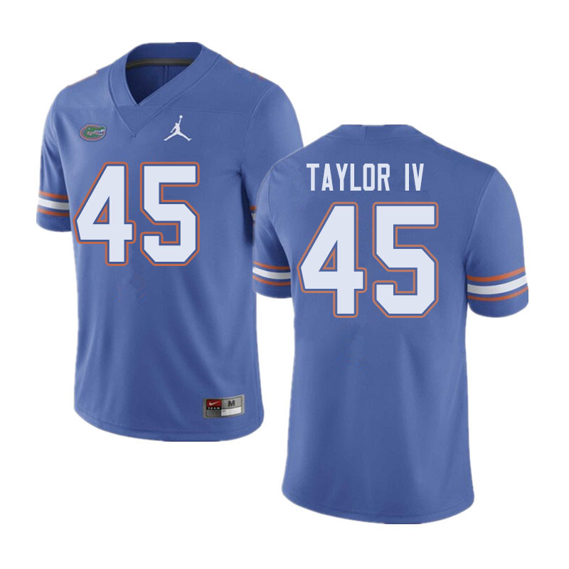 Jordan Brand Men #45 Clifford Taylor IV Florida Gators College Football Jerseys Sale-Blue