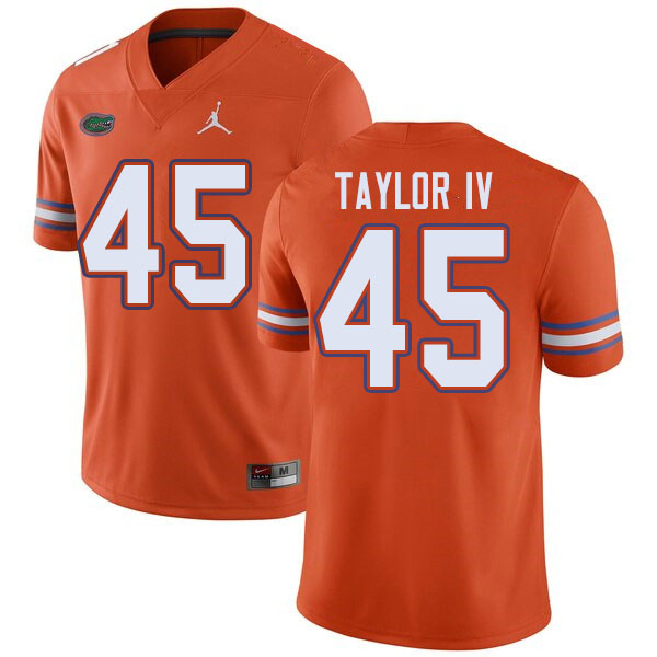 Jordan Brand Men #45 Clifford Taylor IV Florida Gators College Football Jerseys Sale-Orange