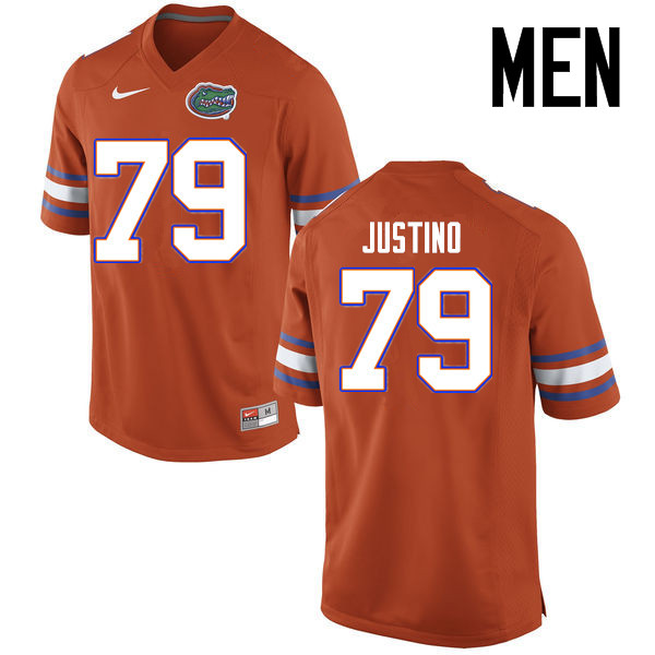 Men Florida Gators #79 Daniel Justino College Football Jerseys Sale-Orange