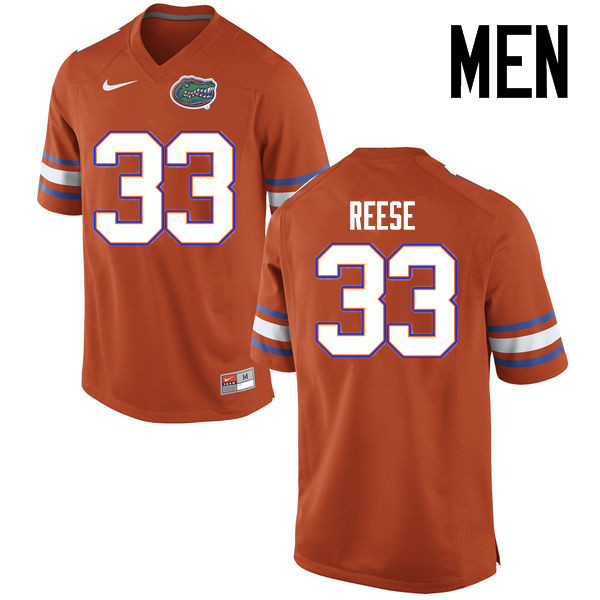Men Florida Gators #33 David Reese College Football Jerseys Sale-Orange