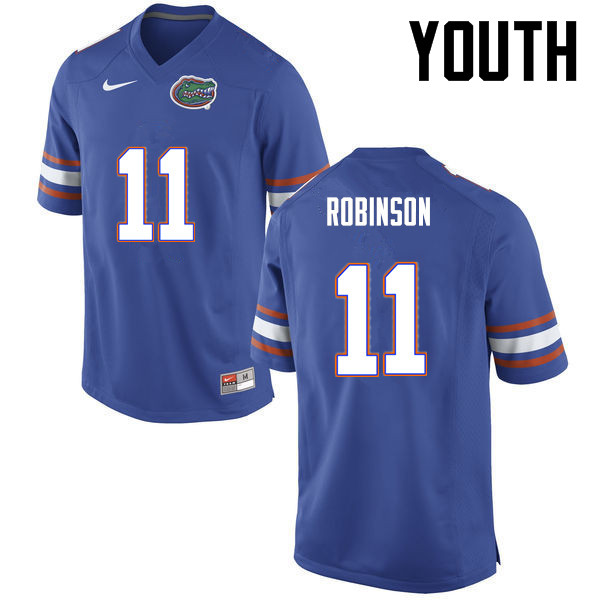 Youth Florida Gators #11 Demarcus Robinson College Football Jerseys-Blue