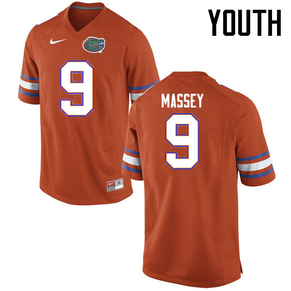 Youth Florida Gators #9 Dre Massey College Football Jerseys Sale-Orange