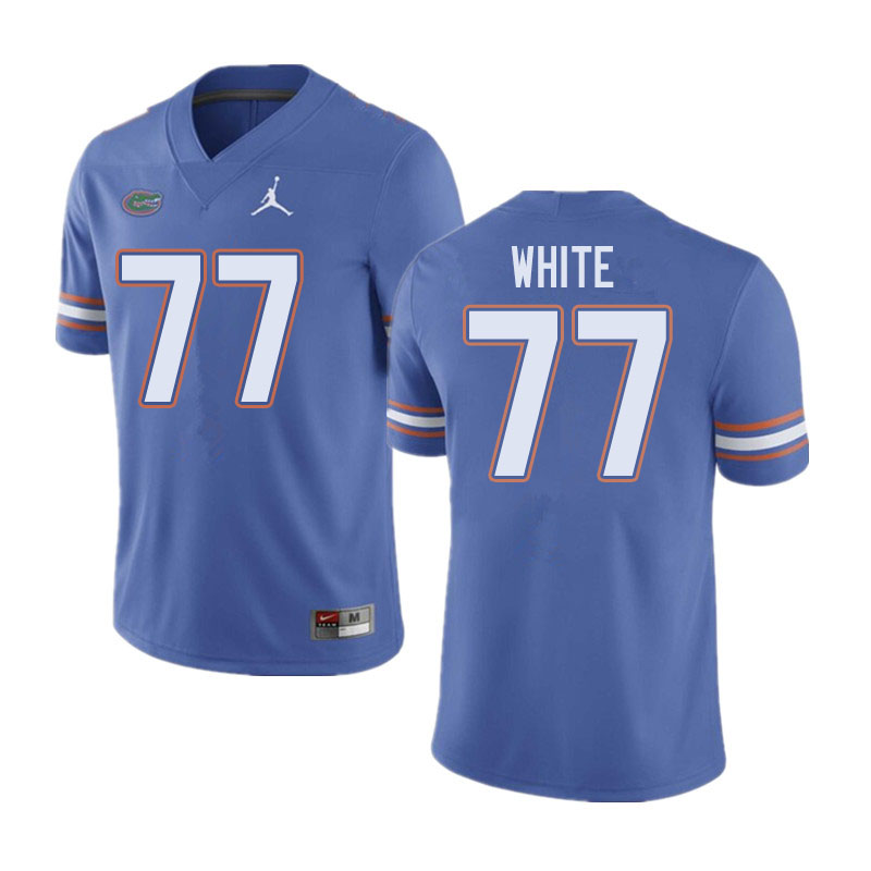 Jordan Brand Men #77 Ethan White Florida Gators College Football Jerseys Sale-Blue