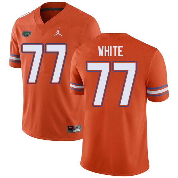 Jordan Brand Men #77 Ethan White Florida Gators College Football Jerseys Sale-Orange