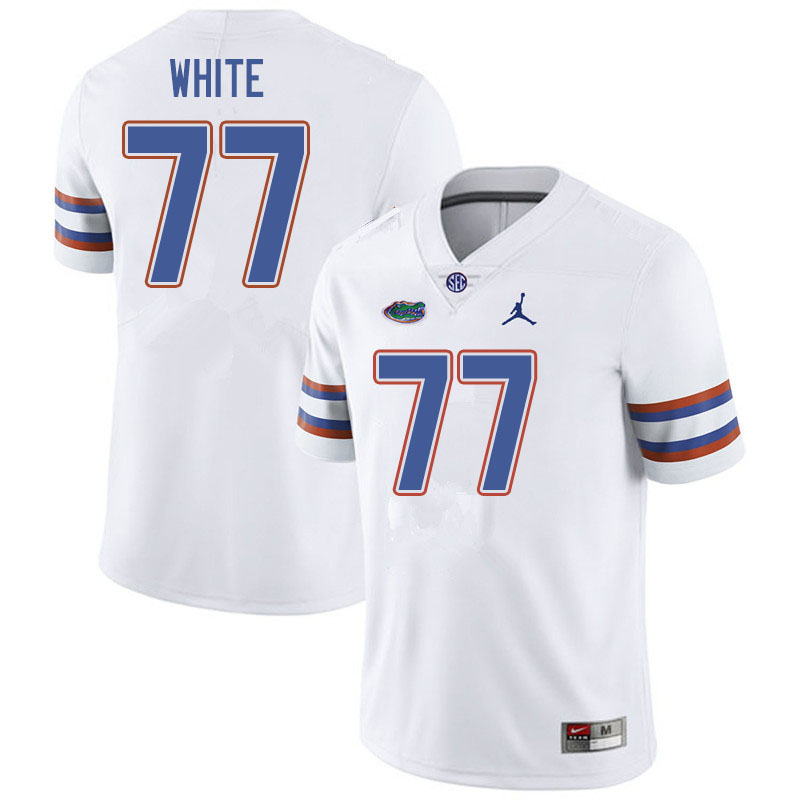 Jordan Brand Men #77 Ethan White Florida Gators College Football Jerseys Sale-White