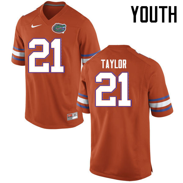 Youth Florida Gators #21 Fred Taylor College Football Jerseys Sale-Orange