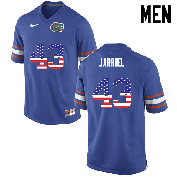 Men Florida Gators #43 Glenn Jarriel College Football USA Flag Fashion Jerseys-Blue