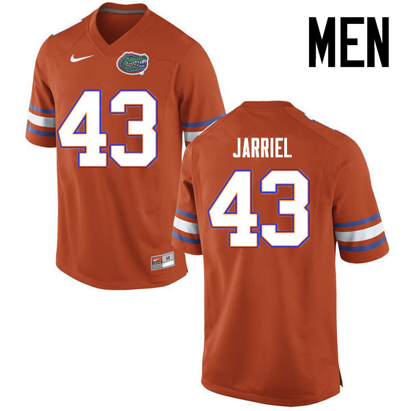 Men Florida Gators #43 Glenn Jarriel College Football Jerseys Sale-Orange