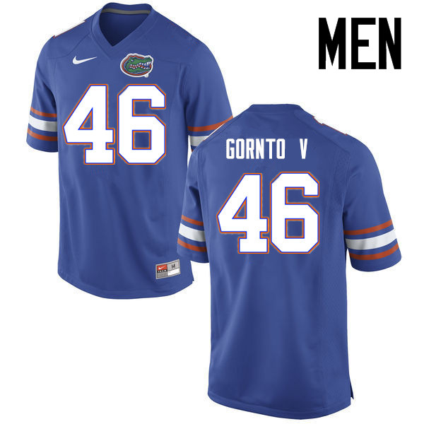 Men Florida Gators #46 Harry Gornto V College Football Jerseys Sale-Blue