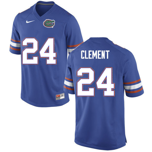 Men #24 Iverson Clement Florida Gators College Football Jerseys Sale-Blue