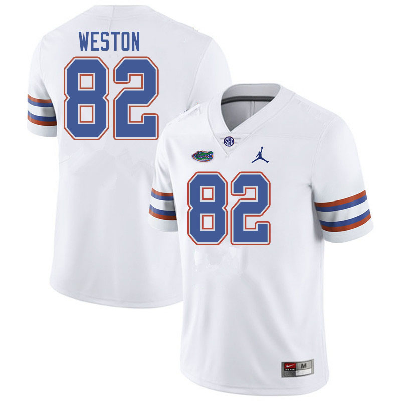 Jordan Brand Men #82 Ja'Markis Weston Florida Gators College Football Jerseys Sale-White